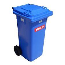 SULO  Abfalltonne Mülltonne Müllbehälter blau 120 Liter Dranktonne Müllcontainer
