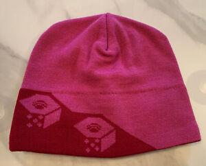 Mountain Hardwear Hat Beanie Knit Winter Red Pink Fleece Head Band Women's Girls