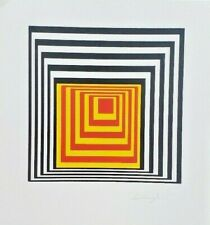 LODEWIJK LODEWIG abstract HAND SIGNED  ORIG. 1983 LITHOGRAPH