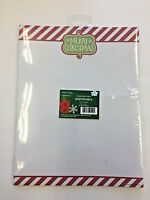 1 pkg. of 25 sheets Merry Christmas holiday stationery sheets red and green