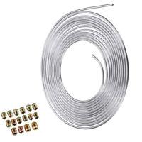 Steel Nickel Brake Line Tubing Kit 3/16 OD 25 Foot Coil Roll all Size Fittings
