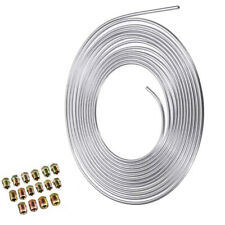 Steel Nickel Brake Line Tubing Kit 3/16 OD 25 Foot Coil Roll all Size Fittings
