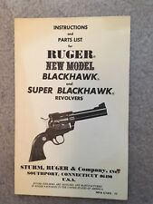 Original Blackhawk & Super Blackhawk owners manual 1977