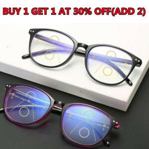 Varifocal Glasses Anti Uv Glare Blue Light Plastic Frame Reading Glasses Black