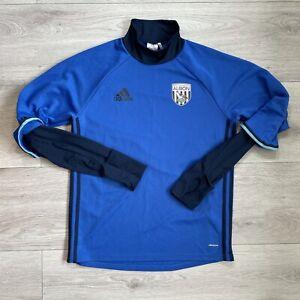 West Bromwich Albion Adidas Long Sleeve Training Jumper Size Medium Blue Top