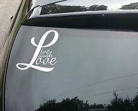 Live Laugh Love Funny Car/Window JDM VW EURO Vinyl Decal Sticker