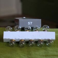 10 Replacement Light Bulbs No. 57 for Lionel, American Flyer and other trains
