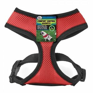 Four Paws Comfort Control Air Mesh Harness Red-(Free Shipping in USA)