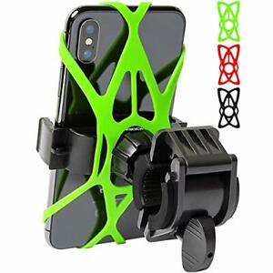 Mongoora Bike & Motorcycle Phone Mount w/ 3 Bands Black Red Green Cell Phone ...
