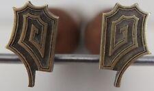 Paire de Grands Fers à Dorer Fleuron modèle CHINOIS Louis XV Bronze Reliure #56