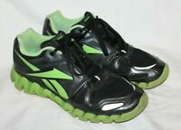 Reebok ZigTech Running Athletic Shoes Black Neon Green Mens Size 11.5 039501 HTF
