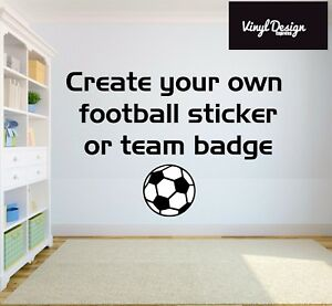 Personalised ANY FOOTBALL CLUB / LOGO CREST  Wall Sticker Decal Decor