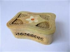 Hand Made Soapstone Potpourri Box With M.O.P. Inlay
