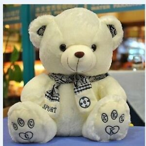 12'' Cute Scarf Teddy Bear Plush Doll Stuffed Animal Soft Toy Xmas Present Gift