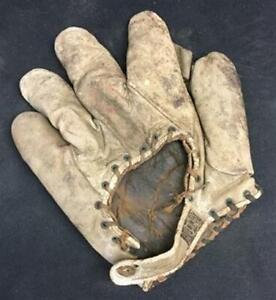 1910-1920 Vintage Reach Baseball Glove, Antique Leather Baseball Glove Mitt