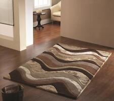 Botanical Saria Brown  Beige Luxury Handtufted Wool Rug in various sizes