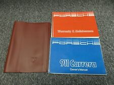 1985-1986 Porsche 911 Carrera Original Owners Manual Set Coupe Targa Cabriolet