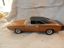 Hot Wheels 1969 Brown Dodge Charger 1/18