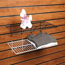 """Slatwall Wire Shelf - Gridwall Wire Shelf - 12"""" x 24"""" - Black - Lot of 6"""
