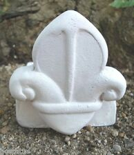 Latex w plastic backup  fleur de lis pot foot mold