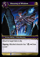 WOW WARCRAFT TCG ARCHIVES FOIL : BLESSING OF WISDOM FOIL X 4