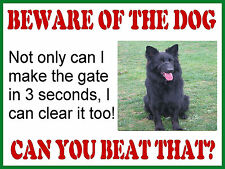 LARGE RETRO METAL PLAQUE :BEWARE OF THE DOG Blk German Shepard sign/ad