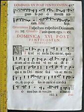 Rare huge deco.music leaf,Gradual,Gregorian Chant,1671 #427f