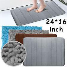 Absorbent Non-slip Bath Mats Memory Foam/Soft Shag Chenille Bathroom Carpet Rugs