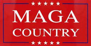 MAGA Make America Great Again Country Red Vinyl Decal Bumper Sticker