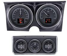Dakota Digital 67 Chevy Camaro Analog Gauges Kit w/ Console Black HDX-67C-CAC-K