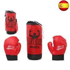 Saco de Boxeo & Guantes Rojo 118020