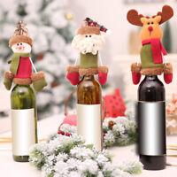 Eg _ Bonhomme de Neige Noël Santa Élan Vin Bouteille Housse Manche Cadeau
