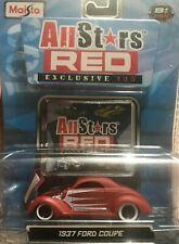 MAISTO All Stars Red Exc.100 -1:64/ 1937 Ford Coupe (Red w/white) NIP
