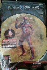 Power Rangers Red Ranger Adult Costume Size XXL 50-52 Full Body Suit Disguise