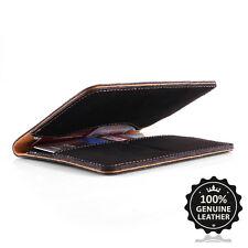 Surazo® Echtes Leder Premium Slim Brieftasche Leather Wallet Geldbörse Geldbeute