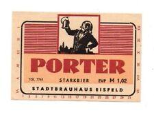 Germany - Beer Label - Stadtbrauerei Eisfeld - Porter