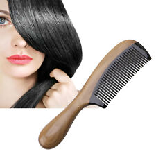 Pro Natural Ox Horn Green Sandalwood Fragrant Comb Wooden Handle Combs Hair Care