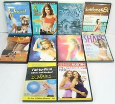 10 Exercise DVDs Oxycise, Kettlenetics, Tai Chi, Aerobic Striptease, ABS, Cardio