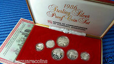 1986 Singapore Sterling Silver Proof Coin Set (Extra Large $1 Silver Proof Coin)