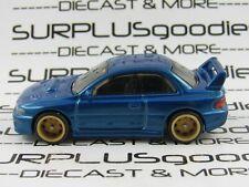 Hot Wheels 1:64 LOOSE Blue 1998 SUBARU IMPREZA STi Custom SUPER w/Real Riders