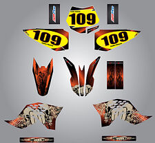 Full Custom Graphics kit for KTM 50 2009 - 2014 Reaper Style Stickers / decals
