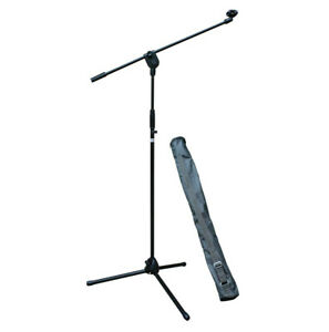 E-Lektron EMS01 3 Legs microphone stand with boom and Microphone hold Carry Bag