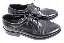 WEYENBERG Black Leather Wingtip Derby Oxford 50s 60s Vintage Dress Shoes Men 8 D