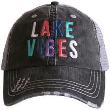BASEBALL CAP- TRUCKER CAP -  LAKE VIBES HAT -MESH HAT