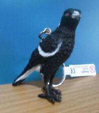 MAGPIE AUSTRALIAN BIRD SOUVENIR GIFT KEYCHAIN KEY RING Size 75mm