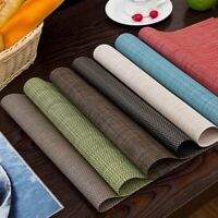 Up to SET 4 x Dining Table Placemat PVC Mat Insulation Tableware Placemats