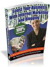 NEW! BOOST YOUR BUSINESS WITH INTERNET MARKETING AND BLOGGING PDF EBOOK