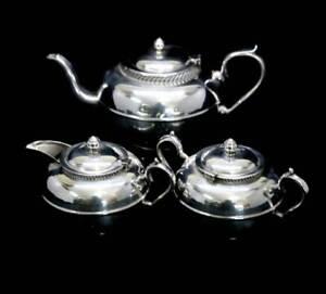 Vintage Warwick EPNS A1 silver plated rope design teapot jug & bowl