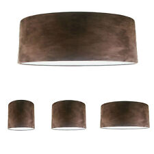 NEW Handmade Lampshade with Dark Brown Faux Mole Skin Faux Suede FREE P&P