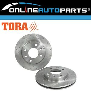 Front Slotted & Dimpled Disc Brake Rotors suits Peugeot 206 306 205 1987~2001